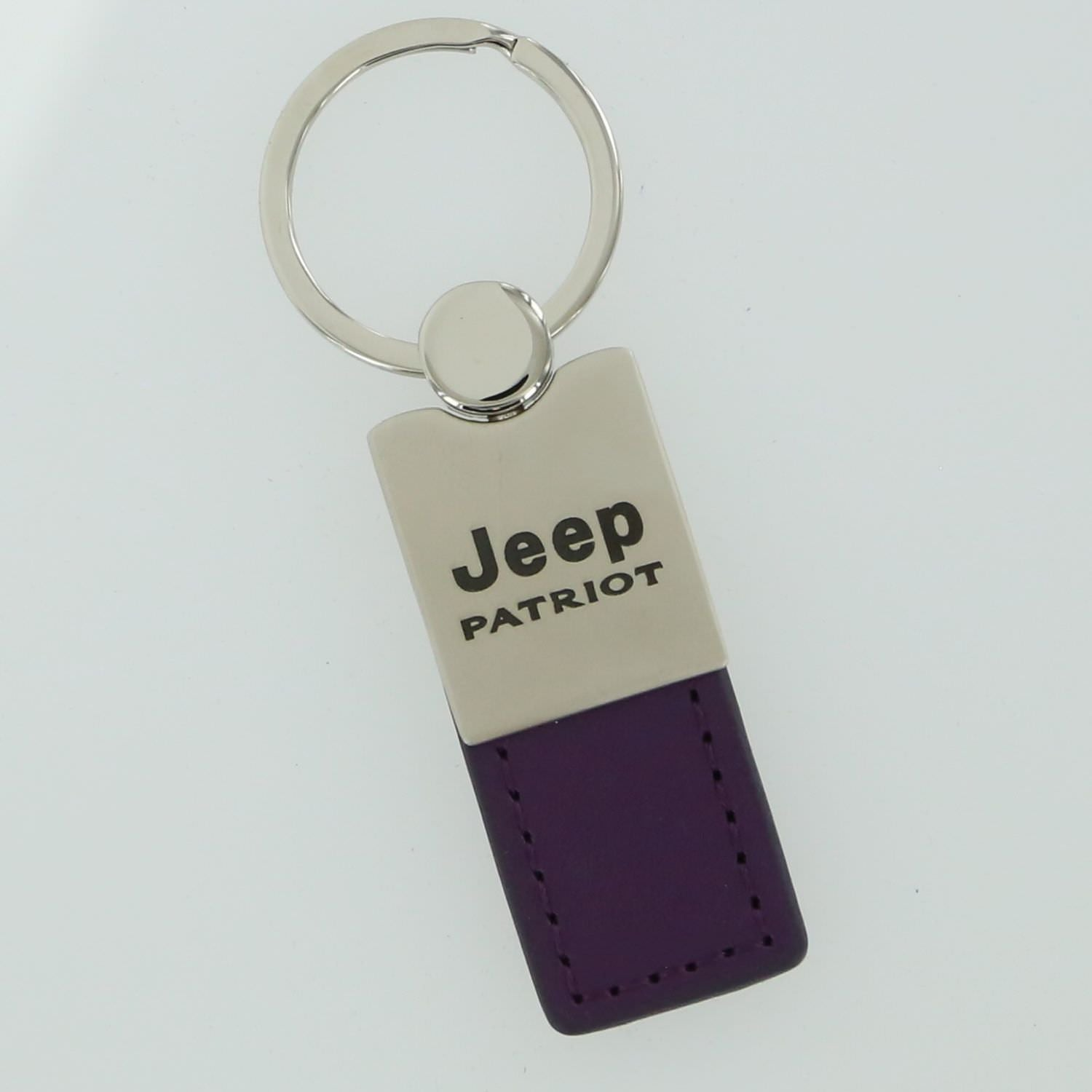 Jeep Patriot Leather Key Ring (Purple) - Custom Werks