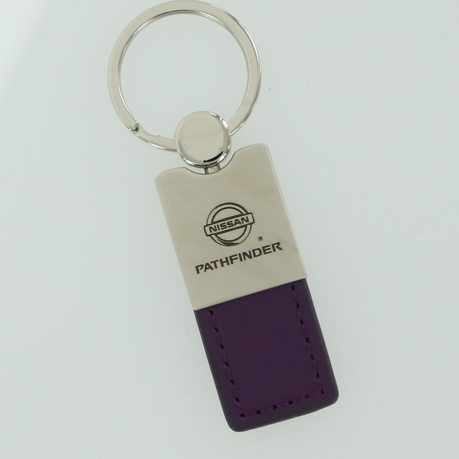 Nissan Pathfinder Leather Key Ring (Purple) - Custom Werks