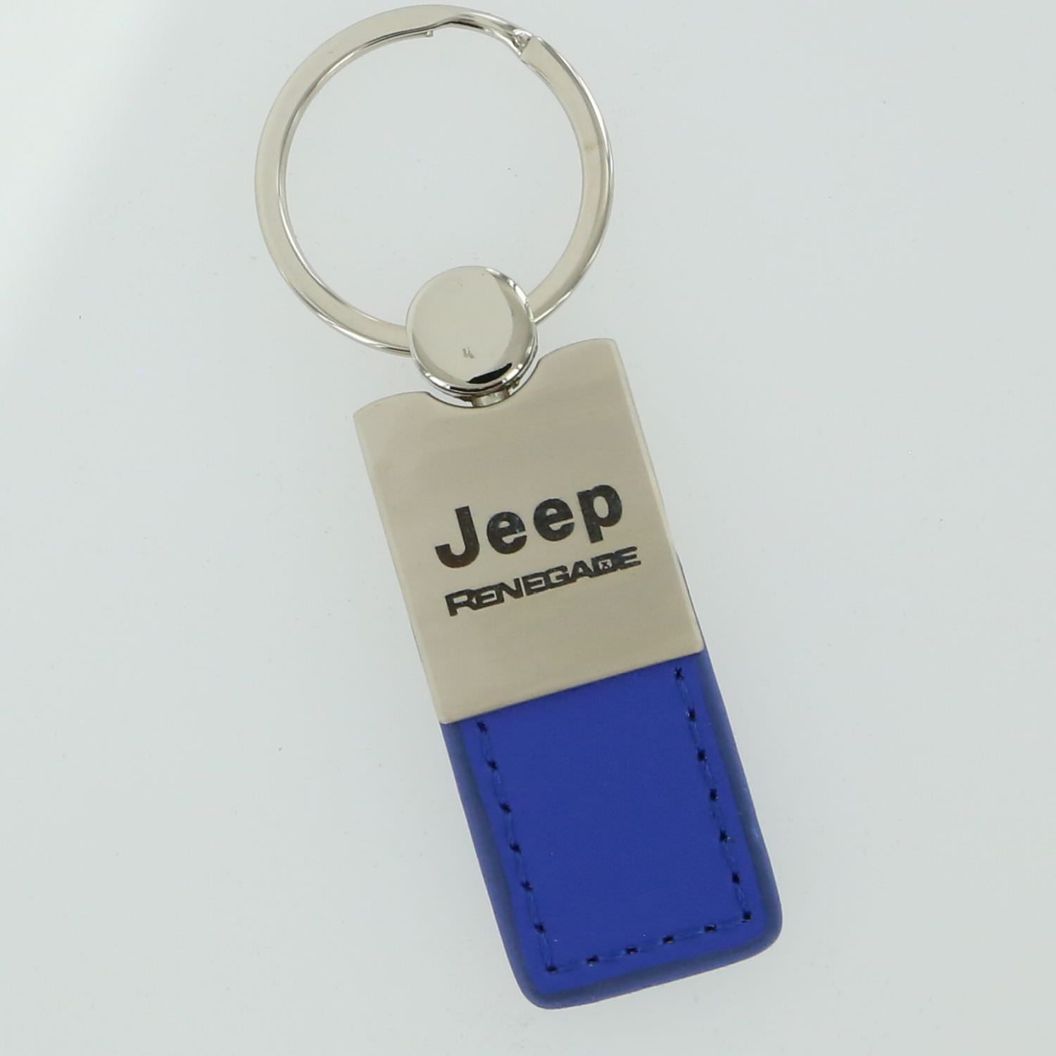 Jeep Renegade Leather Key Ring (Blue) - Custom Werks