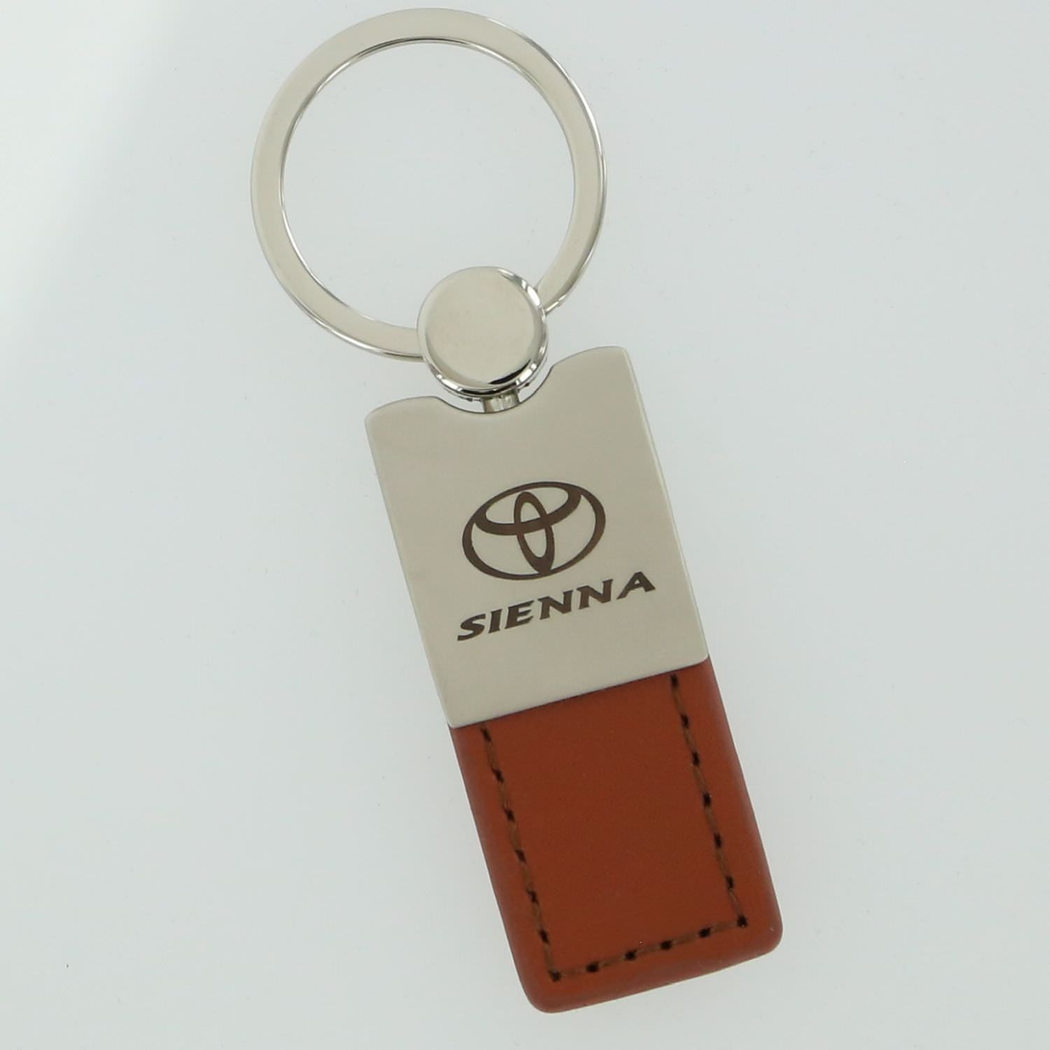 Toyota Sienna Leather Key Ring (Brown) - Custom Werks