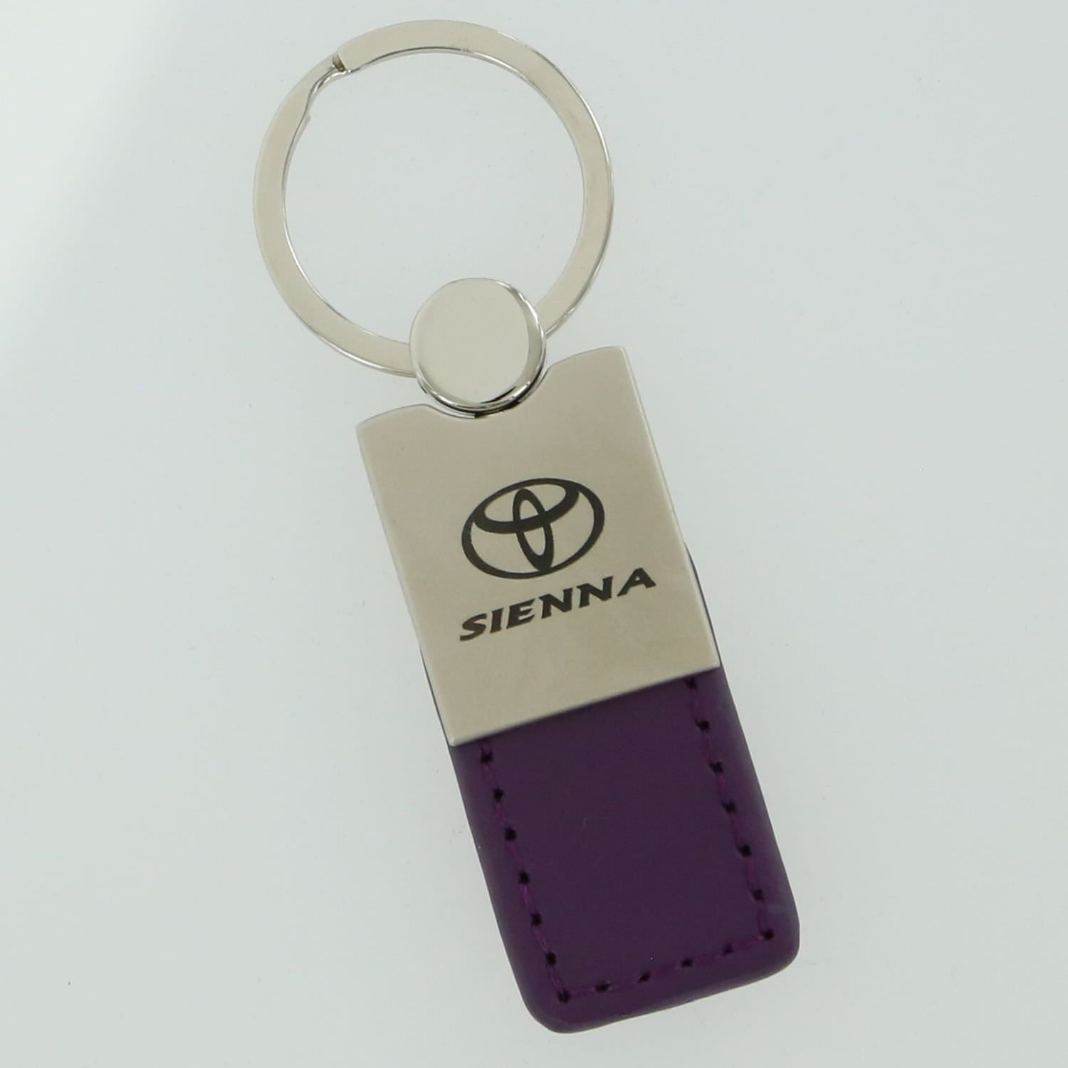 Toyota Sienna Leather Key Ring (Purple) - Custom Werks