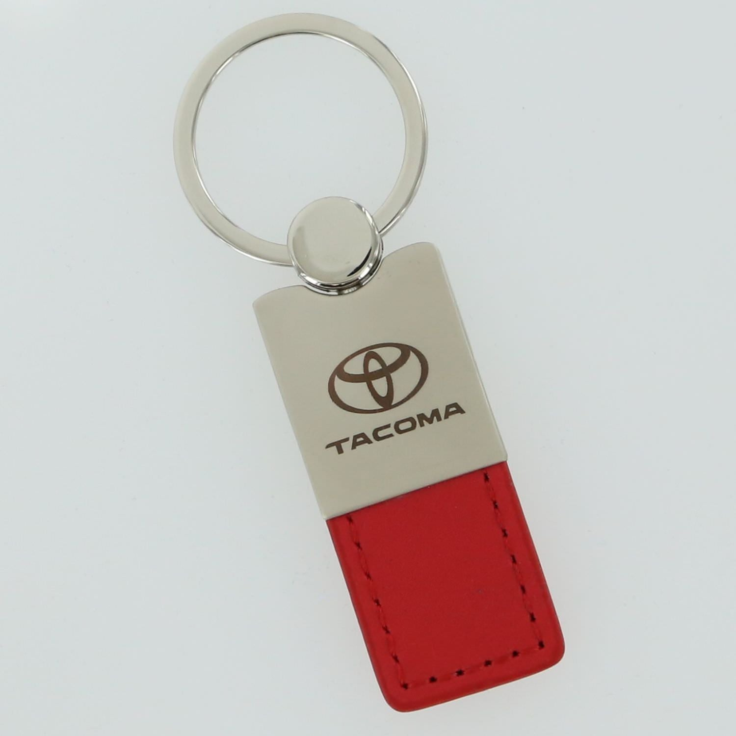 Toyota Tacoma Leather Key Ring (Red) - Custom Werks