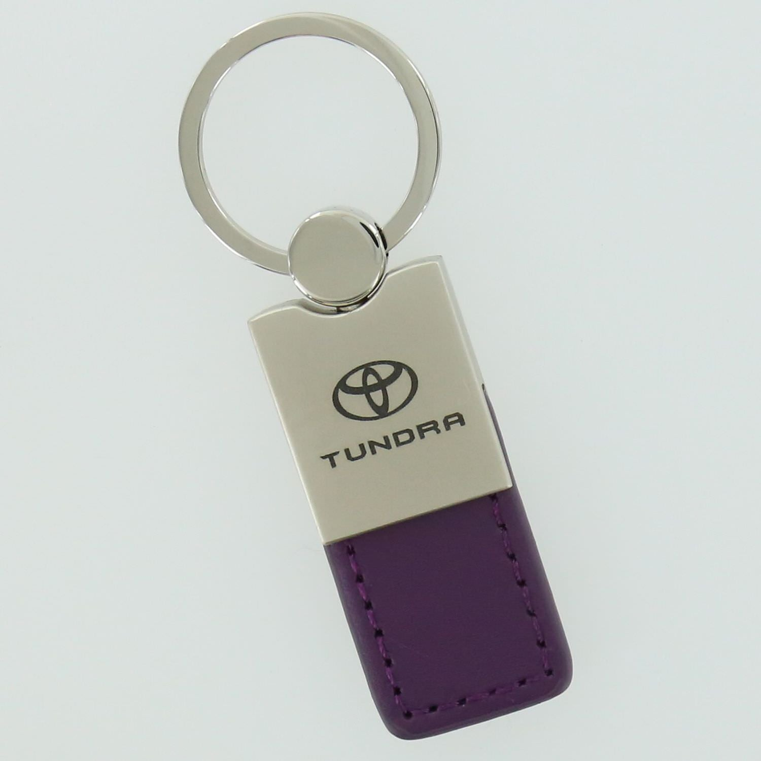 Toyota Tundra Leather Key Ring (Purple) - Custom Werks