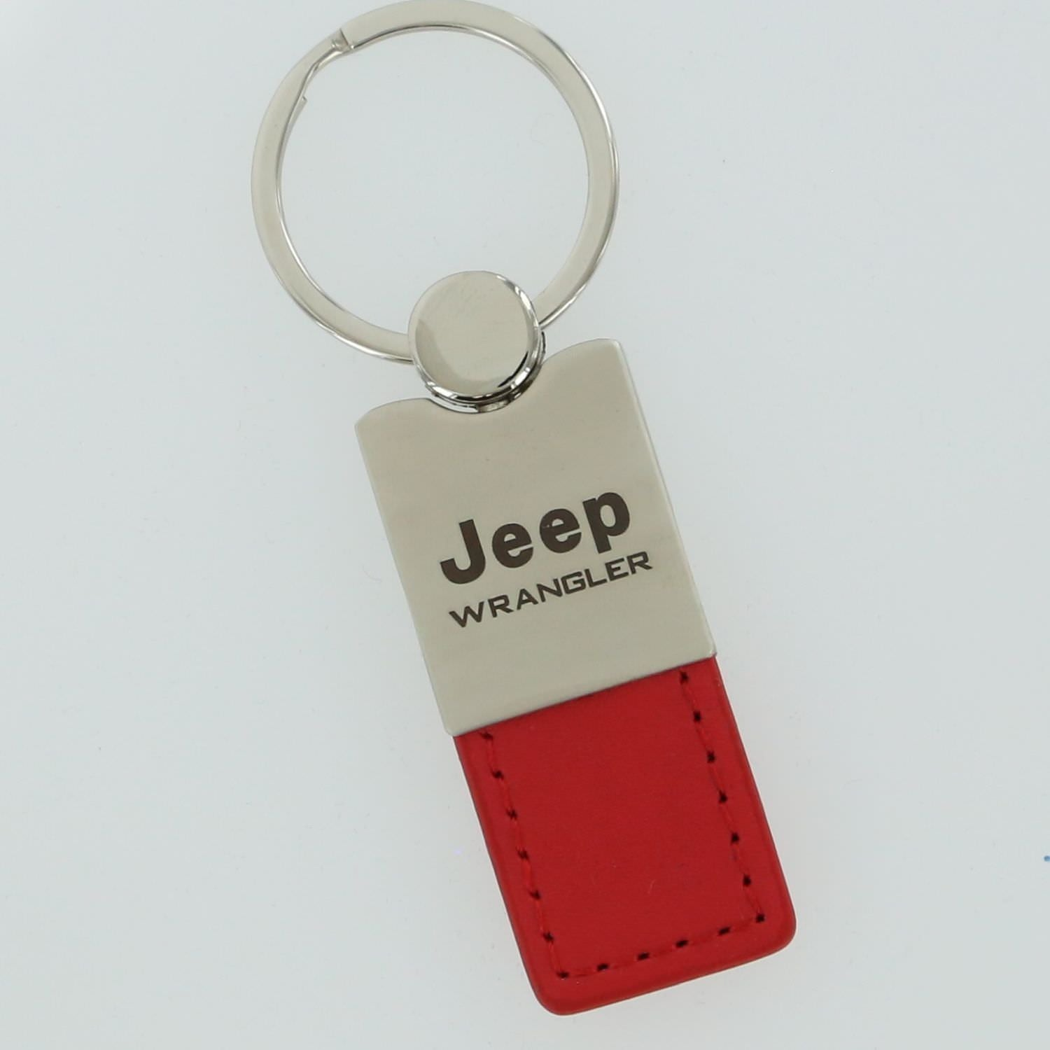 Jeep Wrangler Leather Key Ring (Red) - Custom Werks