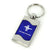 Ford Mustang TriBar Logo Key Ring (Blue)