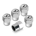 Lexus Tire Stem Valve Caps Set (Chrome)