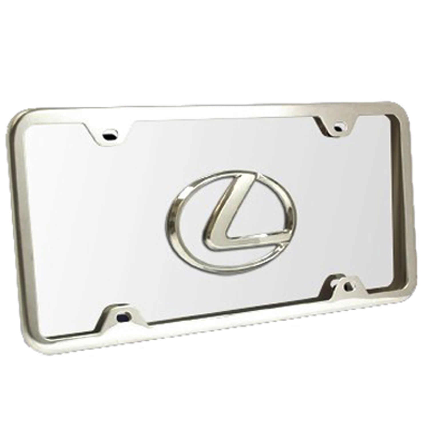 Lexus Logo License Plate Kit (Chrome) - Custom Werks