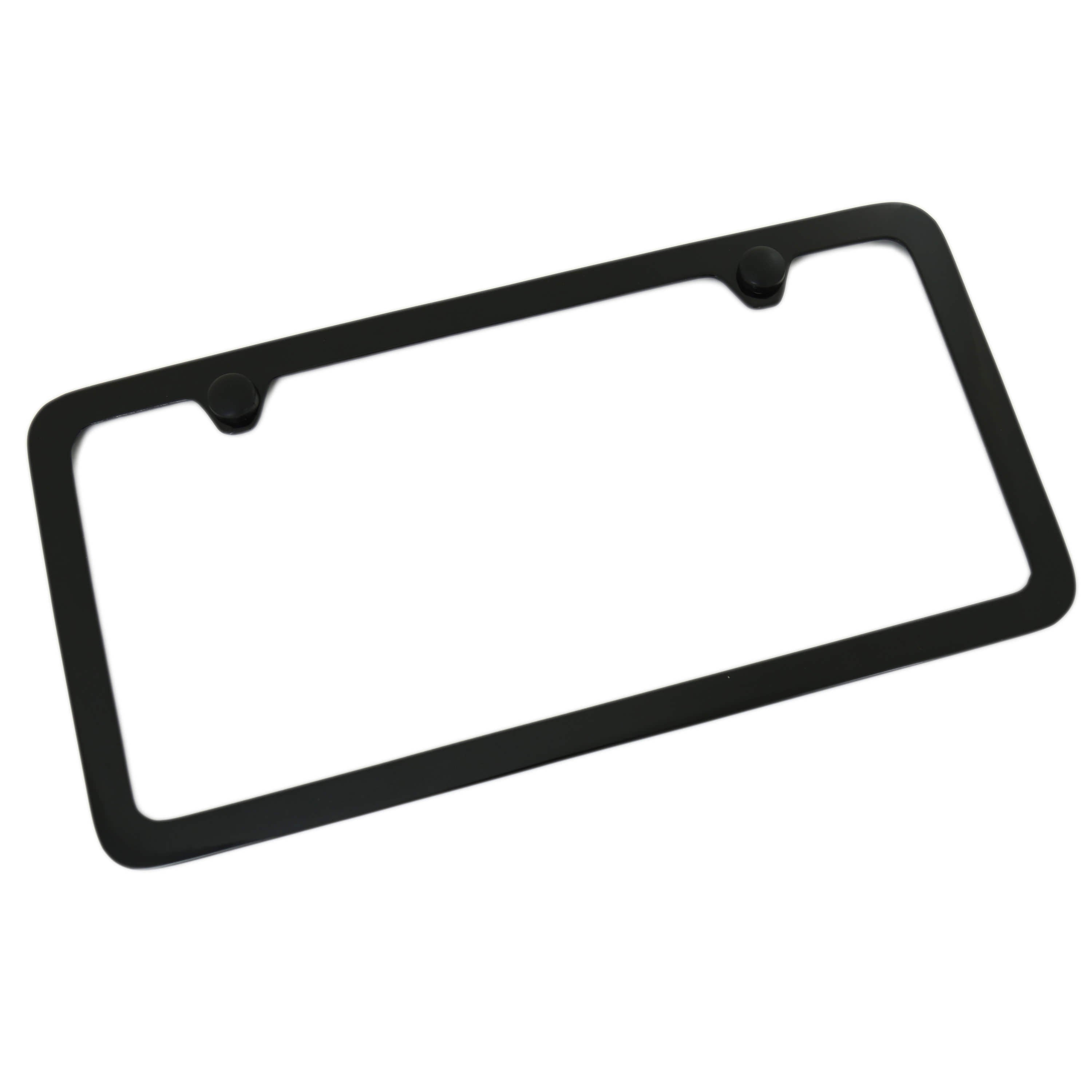 Thin Rim Solid License Plate Frame With 2 Hole (Black) - Custom Werks