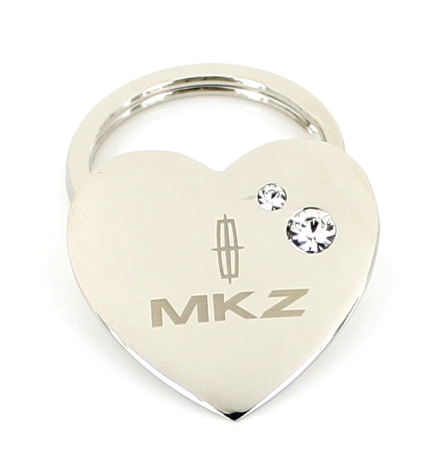 Lincoln MKZ Heart Shape Keychain (Chrome) - Custom Werks