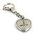Lincoln MKX Heart Shape Chain Keychain (Chrome) - Custom Werks