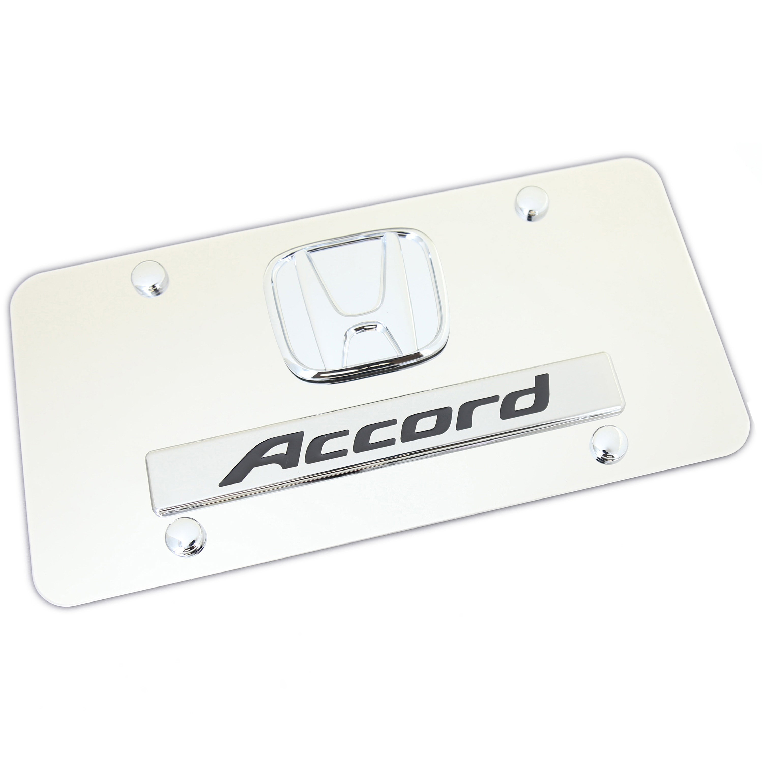 Honda Accord Dual Logo License Plate (Chrome) - Custom Werks