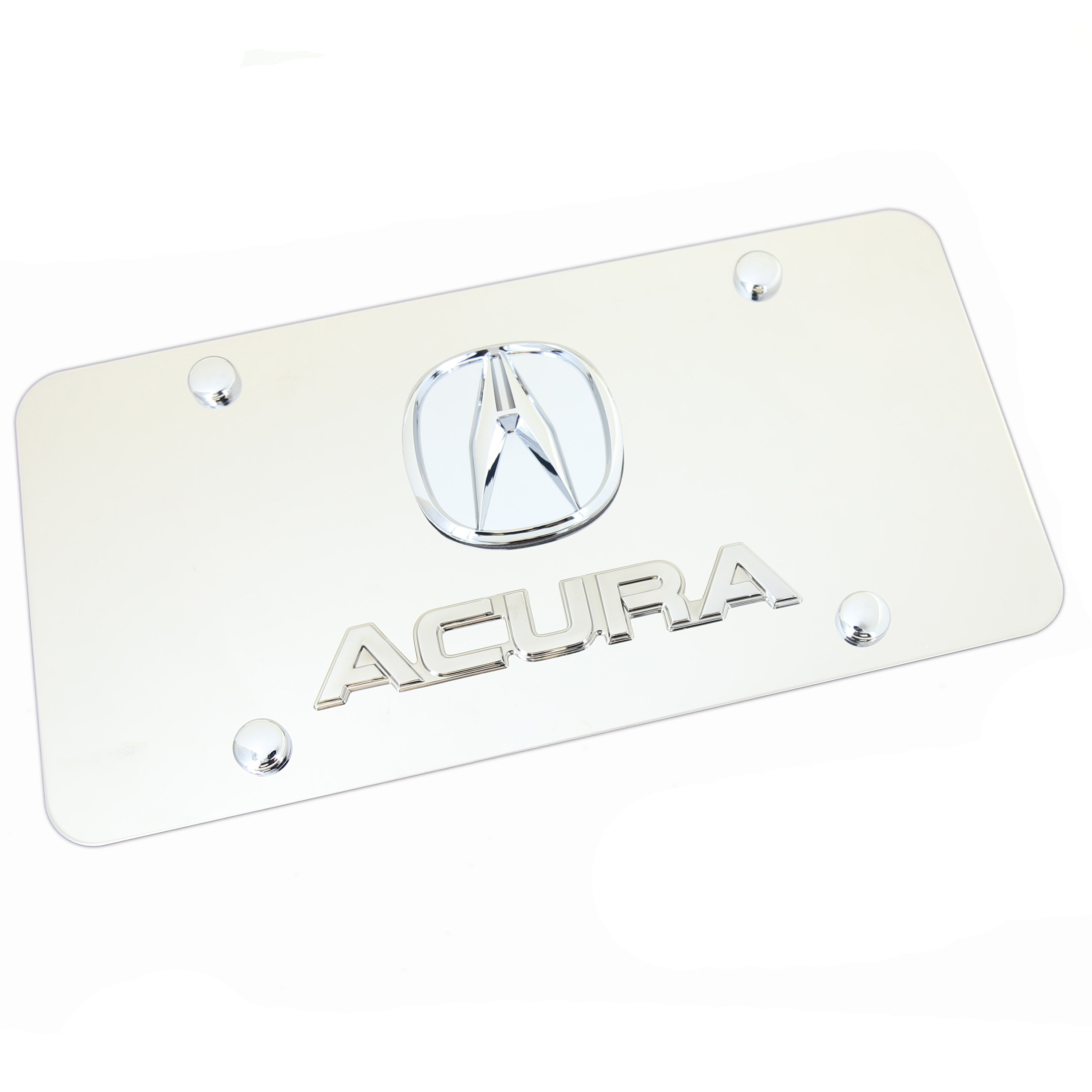 Acura Dual Logo Badge License Plate (Chrome) - Custom Werks