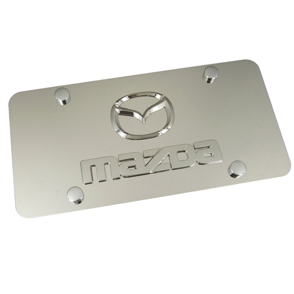 Mazda New Dual Logo License Plate (Chrome) - Custom Werks
