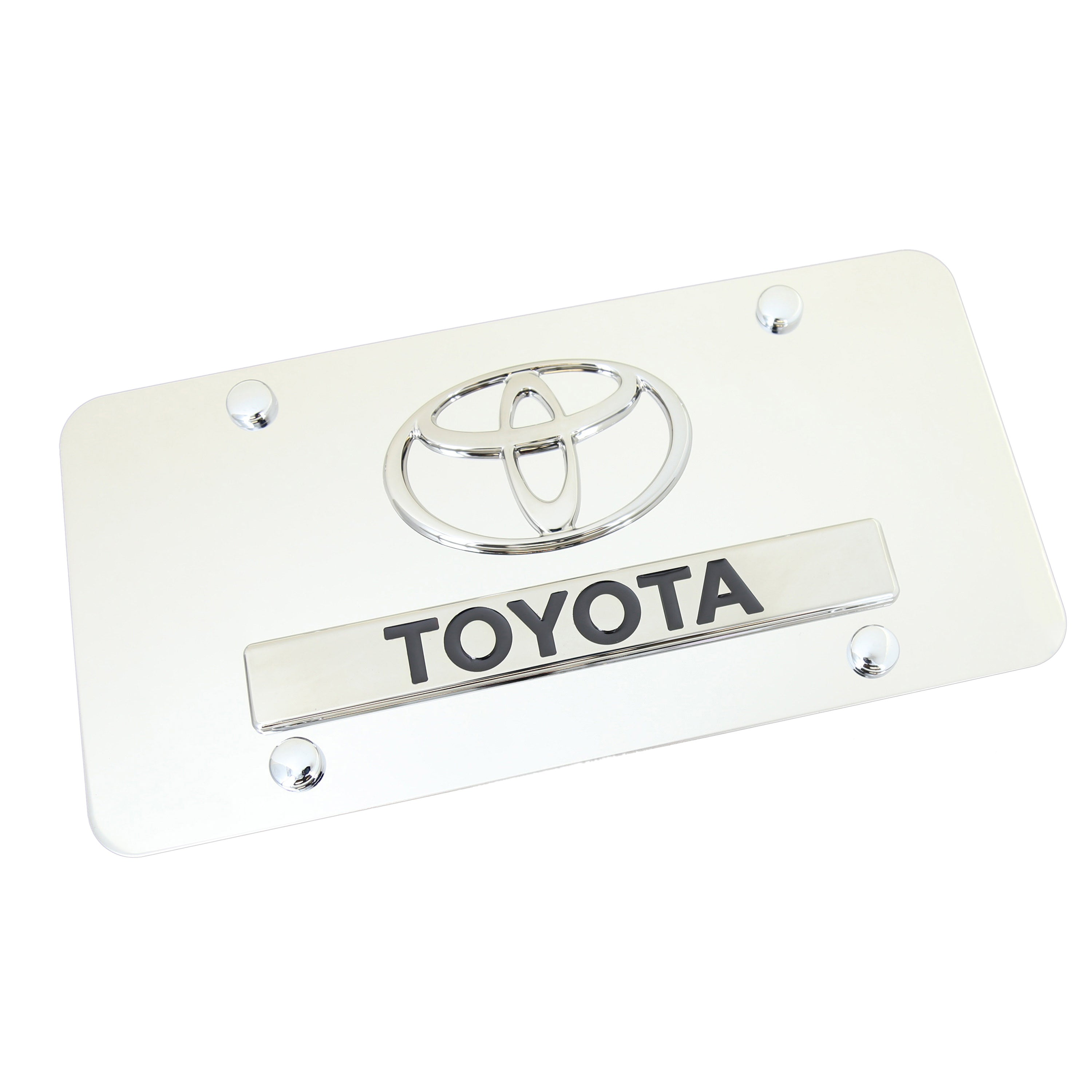 Toyota Dual Logo License Plate (Chrome) - Custom Werks