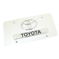 Toyota Dual Logo License Plate (Chrome)