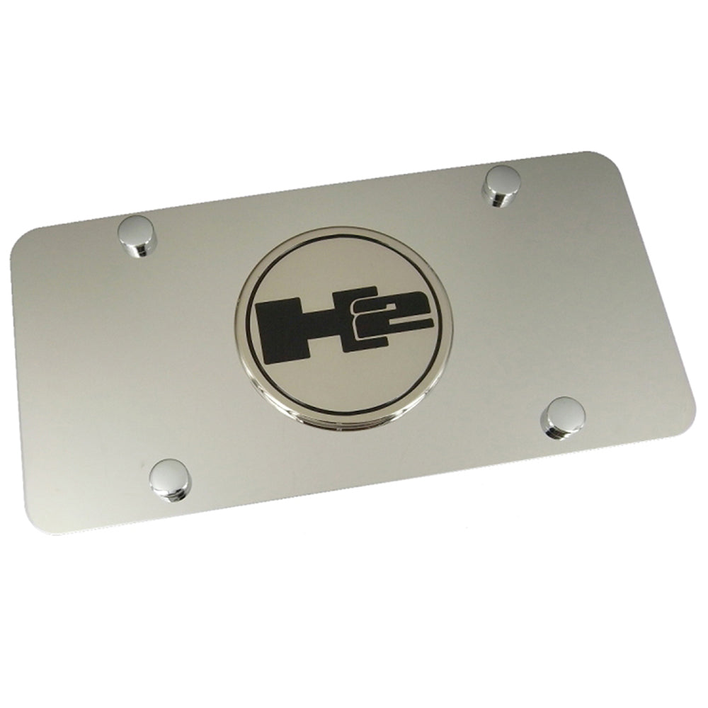 Hummer H2 Logo License Plate (Chrome) - Custom Werks