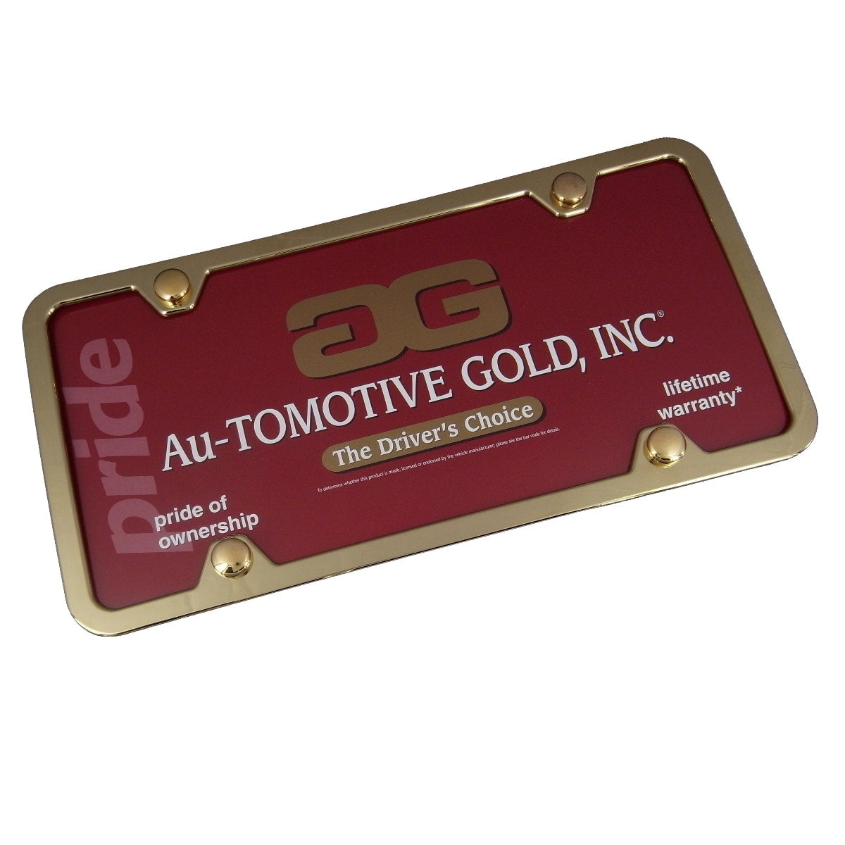 Plain Slim License Plate Frame With 4 Holes Gold(Gold) - Custom Werks