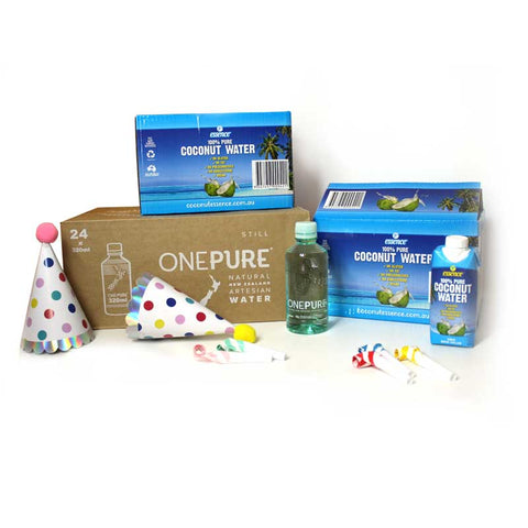 48 Guest Party Pack – 24 Coconut Water – 24 Alkaline Water Free Shipping