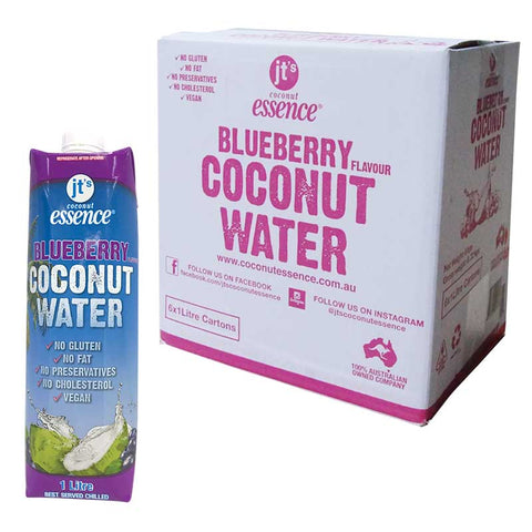 Blueberry Coconut Water 6 One Litre Tetra Packs Free Shipping