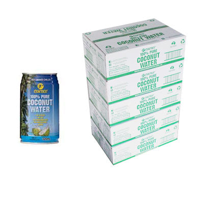 Bulk Buy 5 Pure Coconut Water 120 Small Cans 320 ml Free Shipping