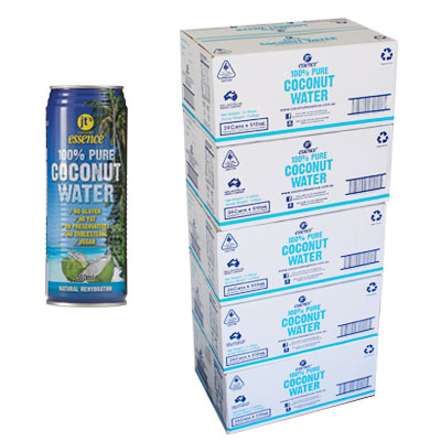Bulk Buy 5 boxes Pure Coconut Water 120 large cans 510ml