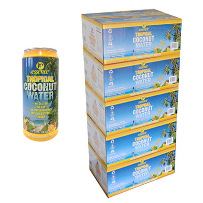 Bulk Buy 5 boxes Tropical Coconut Water 120 large cans 490ml