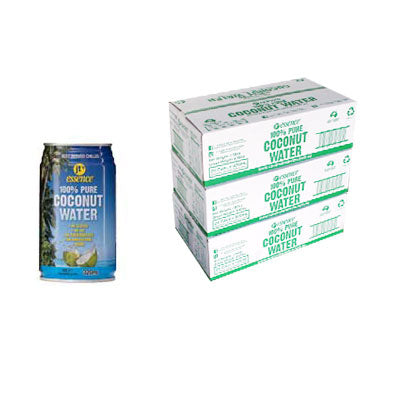Bulk Buy 3 Pure Coconut Water 72 Small Cans 320 ml Free Shipping