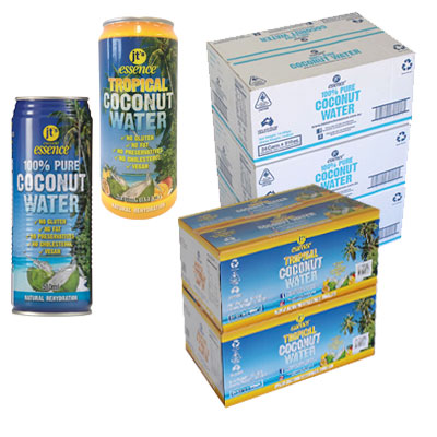 Bulk Buy 3 Pure Coconut Water 72 large cans 510 ml And 2 Tropical Coconut Water 48 large cans 490ml