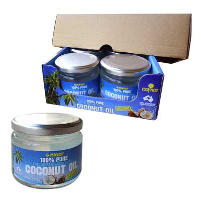Cold Pressed Extra Virgin Coconut Oil 6 300ml Glass Jars Free Shipping