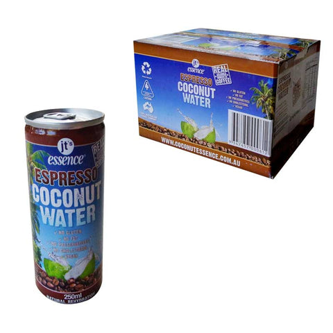 Espresso Coconut Water 12 Small Cans 250 ml Free Shipping