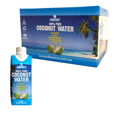 Pure Coconut Water 12 Small Tetra Packs 330 ml Free Shipping