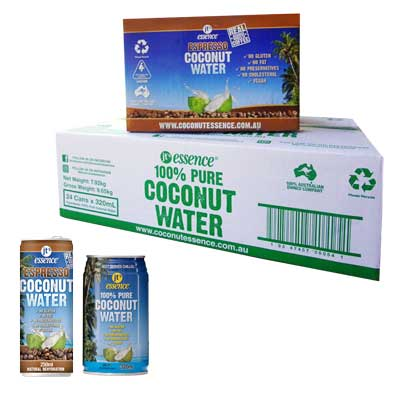 Bulk Buy Combo Pure Coconut Water 24 320 ml Cans And Espresso Coconut Water 12 250 ml Cans