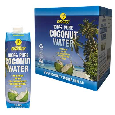 Pure Coconut Water 6 One Litre Tetra Packs Free Shipping