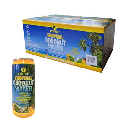 Tropical Coconut Water 24 large cans 490 ml Free Shipping