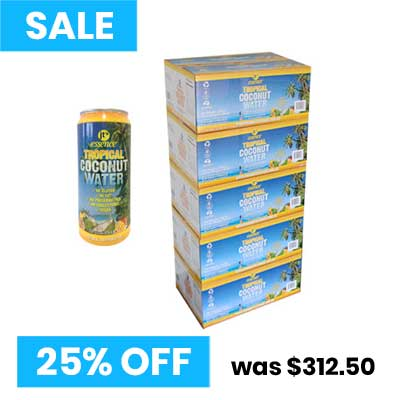 Tropical Coconut Water 5 boxes large cans 490ml