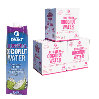 Bulk Buy 3 Blueberry Coconut Water 18 One Litre Tetra Packs