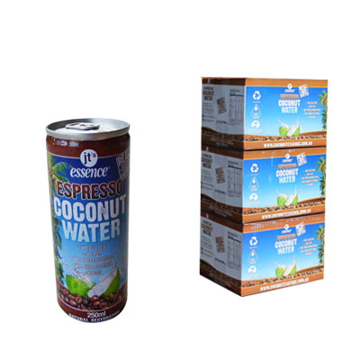 Espresso Coconut Water 3 boxes Small Cans 250 ml