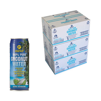 Bulk Buy 3 Boxes Pure Coconut Water 72 Large Cans 510 ml