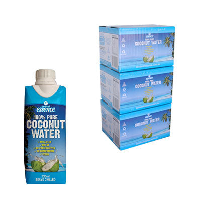 Bulk Buy 3 Pure Coconut Water 36 Small Tetra Packs 330 ml