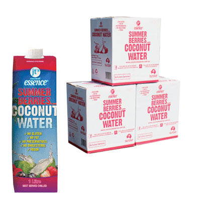 Bulk Buy 3 Summer Berries Coconut Water 18 One Litre Tetra Packs