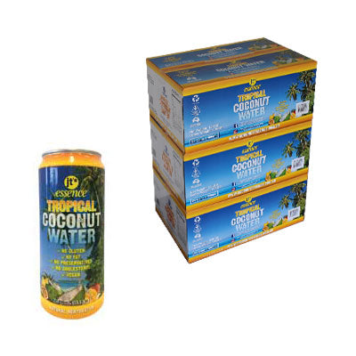 Bulk Buy 3 Boxes Tropical Coconut Water 72 Large Cans 490 ml