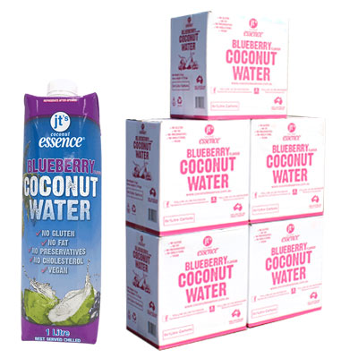 Bulk Buy 5 Blueberry Coconut Water 30 One Litre Tetra Packs