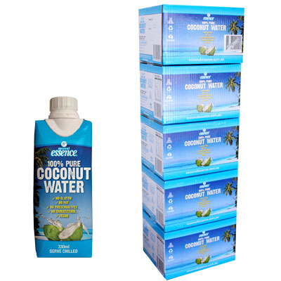 Bulk Buy 5 Pure Coconut Water 60 Small Tetra Packs 330 ml