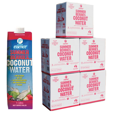 Bulk Buy 5 Summer Berries Coconut Water 30 One Litre Tetra Packs
