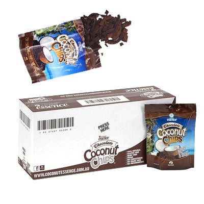 Coconut Snacks Chocolate Coconut Chips 10 Pack Coconut Chips