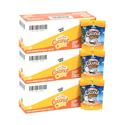 Coconut Snacks Sweet Honey Coconut Chips 30 x 40g Packets