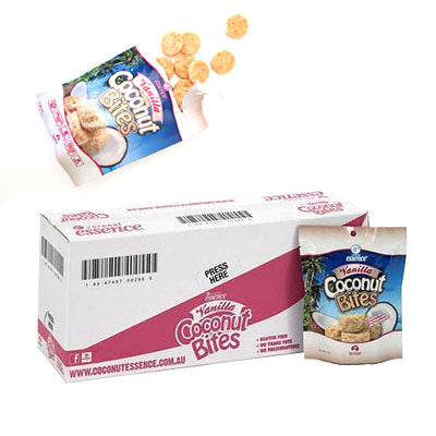 Coconut Snacks Vanilla Coconut Bites 10 Pack