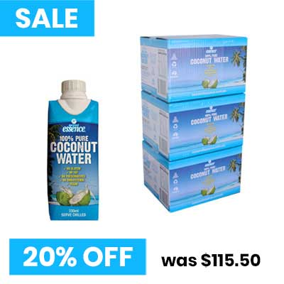 Coconut Water 3 boxes of 330 ml small tetra packs