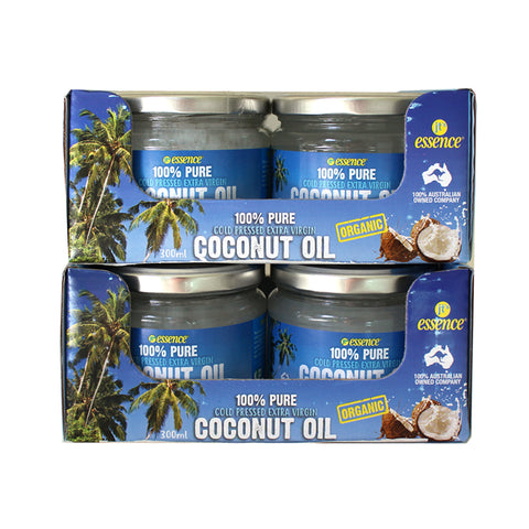 3.6 Litres Cold Pressed Extra Virgin Coconut Oil 6 300ml Glass Jars Free Shipping