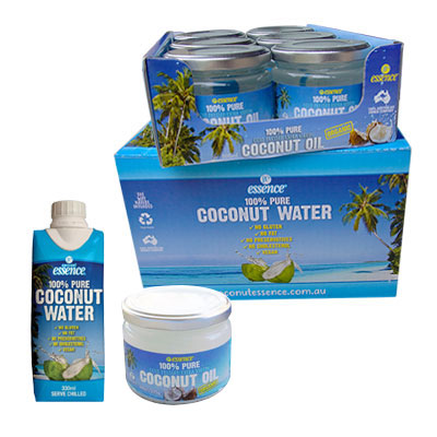 Coconut Oil 6 300 ml Jars And Pure Coconut Water 12 330 ml Tetra Packs